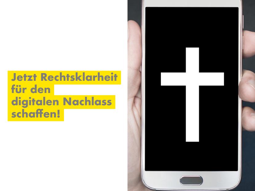 Dr. Jürgen Martens, MdB fordert Rechtsklarheit für den digitalenNachlass