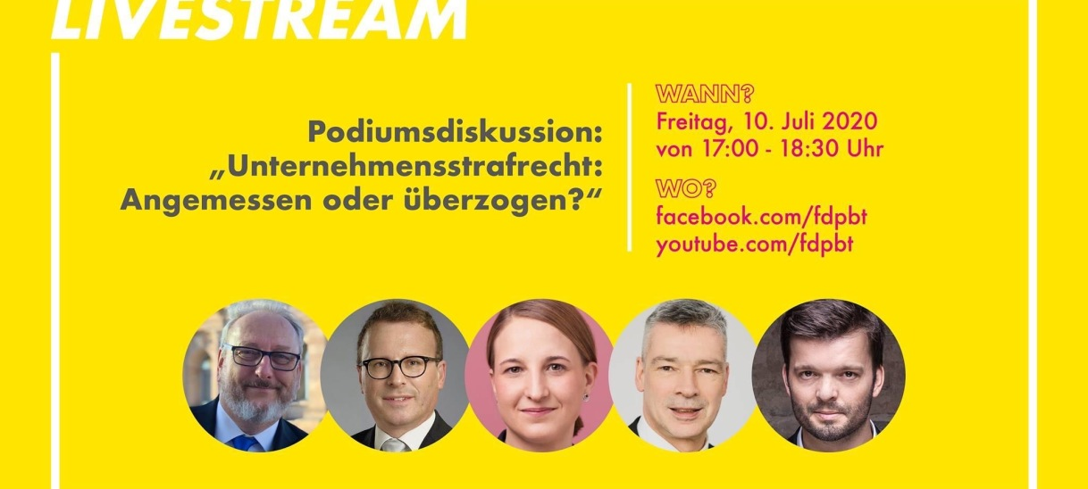 Podiumsdiskussion LIVE am Freitag